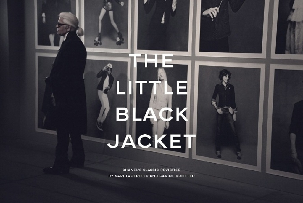 La petite veste noire karl lagerfeld